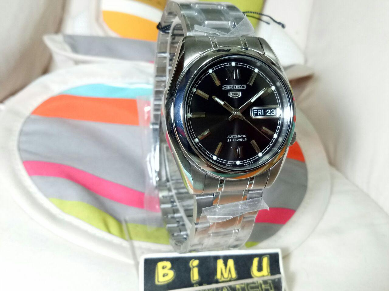 Nam Watch Mahameru Automatic Mh003 Black Stainless Steel Seiko Srpa16j1 Original Jam Tangan Pria Seiko 5