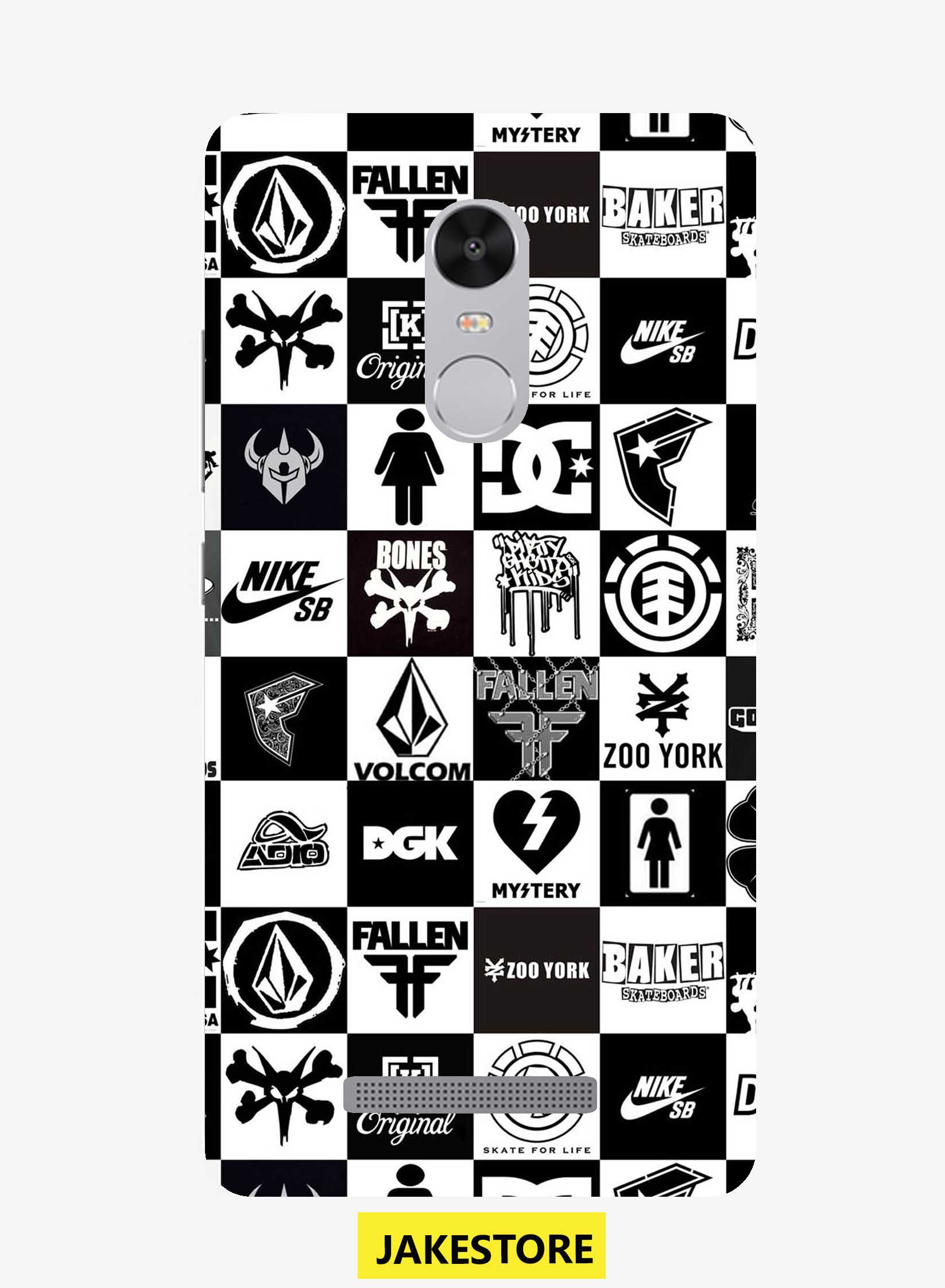 Jual case Xiaomi Redmi Note 3 Skateboard Logo Wallpaper casing cover jakestore