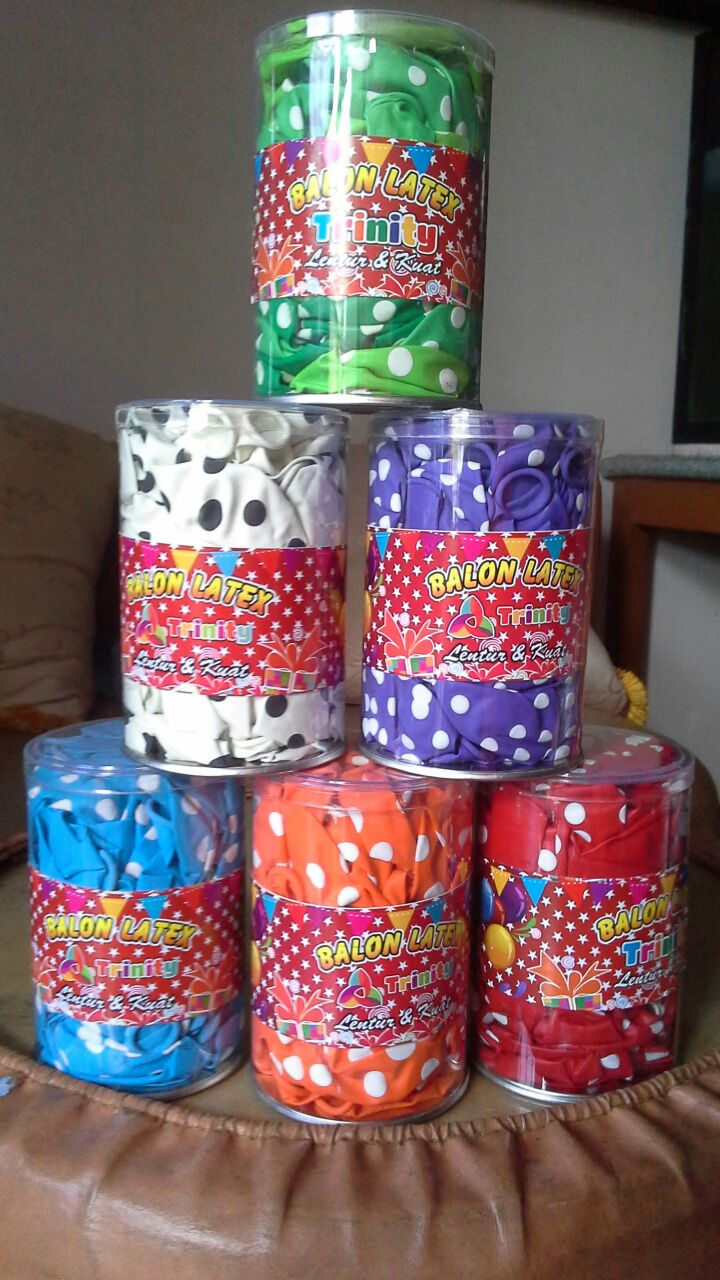 balon polkadot 12inch 50 perlengkapan pesta dekorasi ultah anak murah