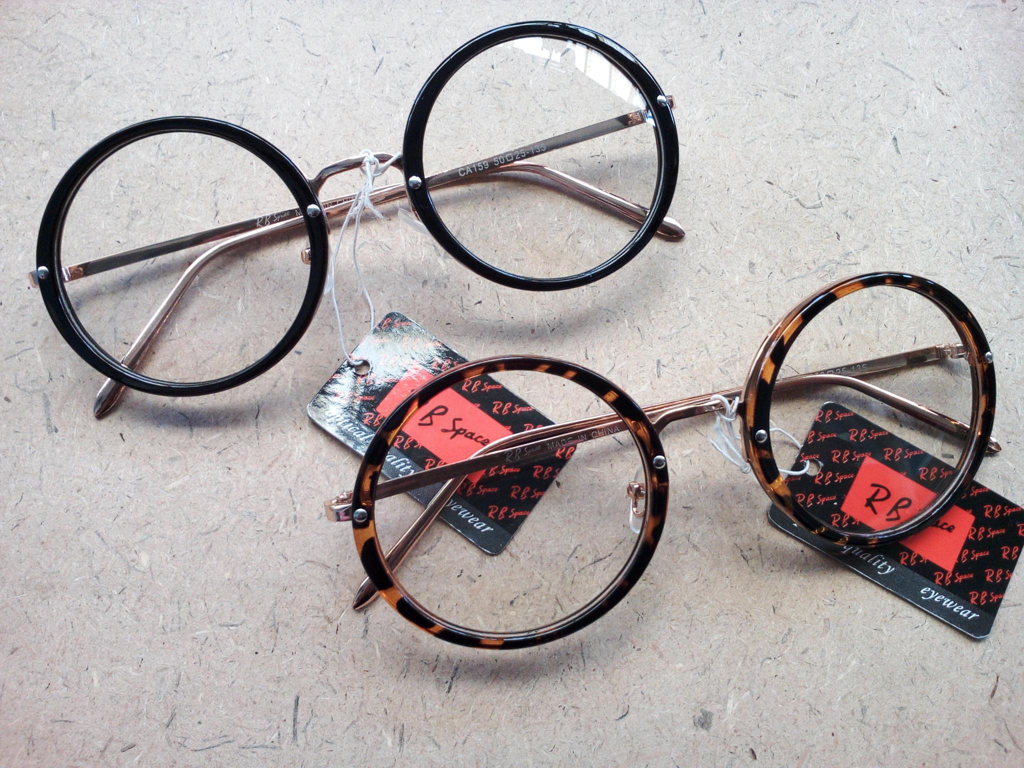 Jual Kacamata Bulat Lingkaran Frame Tebal Corak Pria Wanita Murah ... 228b021065