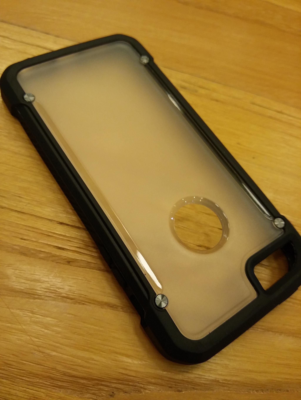 Apple iPhone 5 5S SE Clear Doff Back  TPU Armor Cushion Hybrid Case