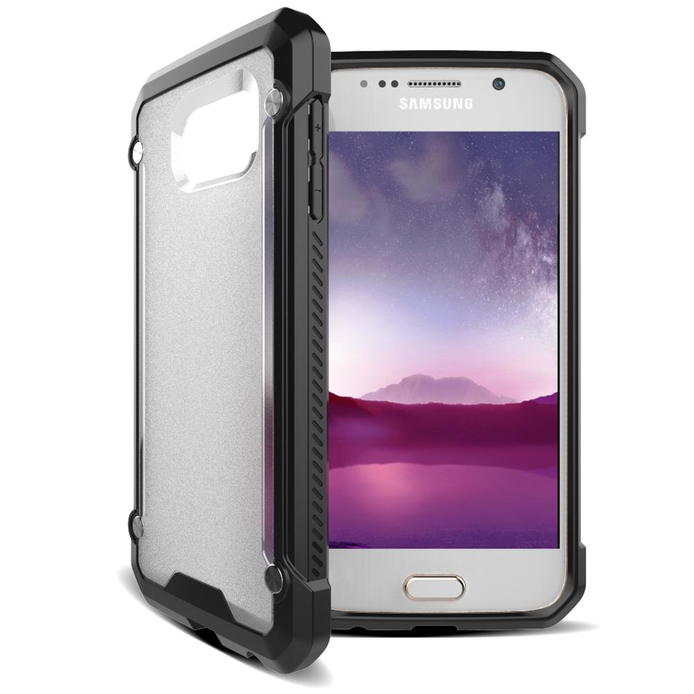 Samsung Galaxy S7 Flat Clear Doff Back  TPU Armor Cushion Hybrid Case