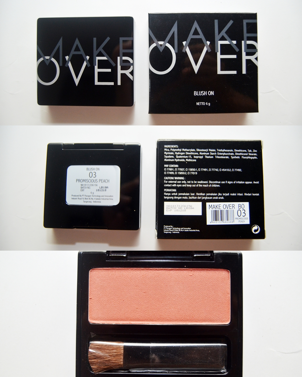 Make Over Blush On Single 03 Promiscious Peach Daftar Update Source Make Over