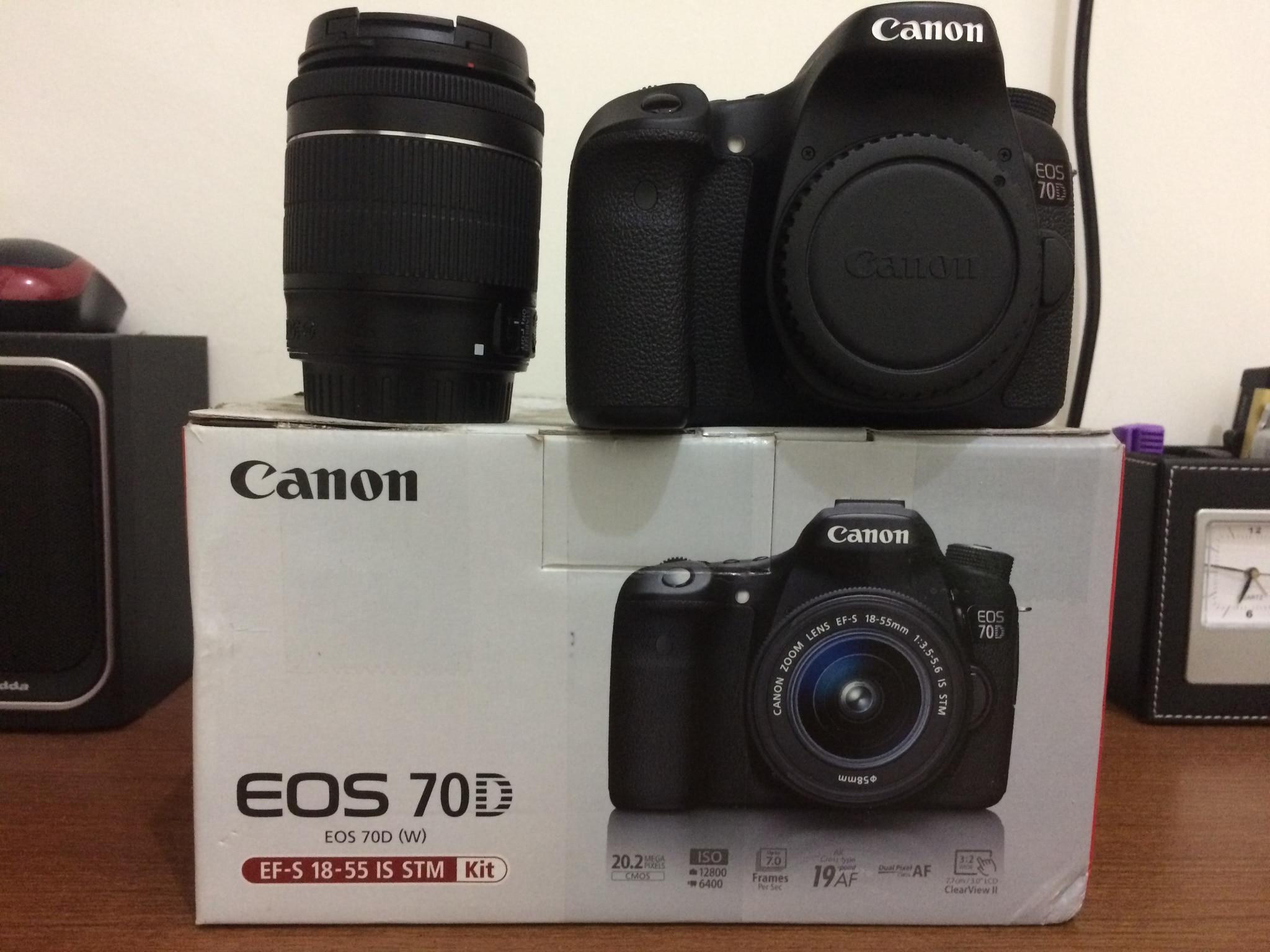 Jual Kemera Canon 70d Wifi Kit Lensa 18 55 Is Stm Garansi Exs Ds Eos Dslr Bonus Maqbul Store Tokopedia