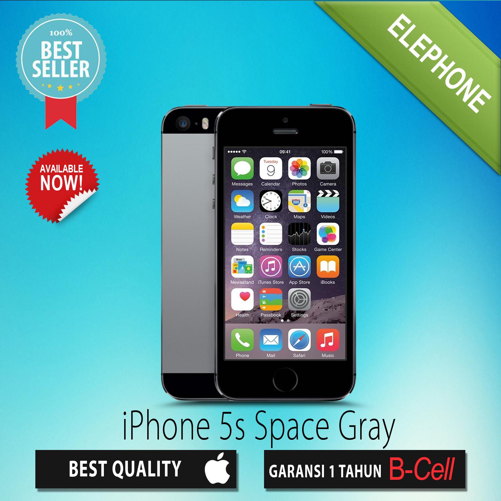 Jual Apple Iphone 5s Grey 32gb Garansi Distributor 1 Tahun 5 16 Gb Elephone Tokopedia