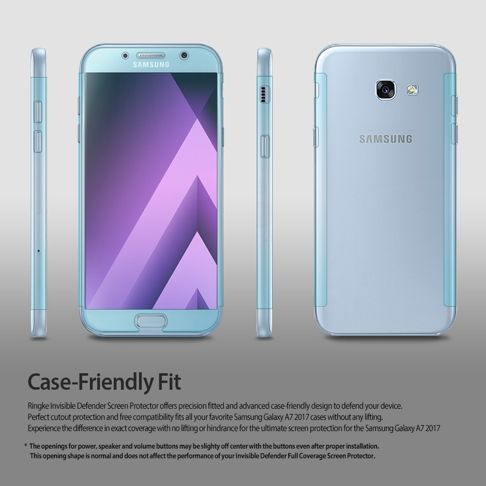 Ringke Galaxy A7 2017 Edition Screen Protector ID Full Cover Clear
