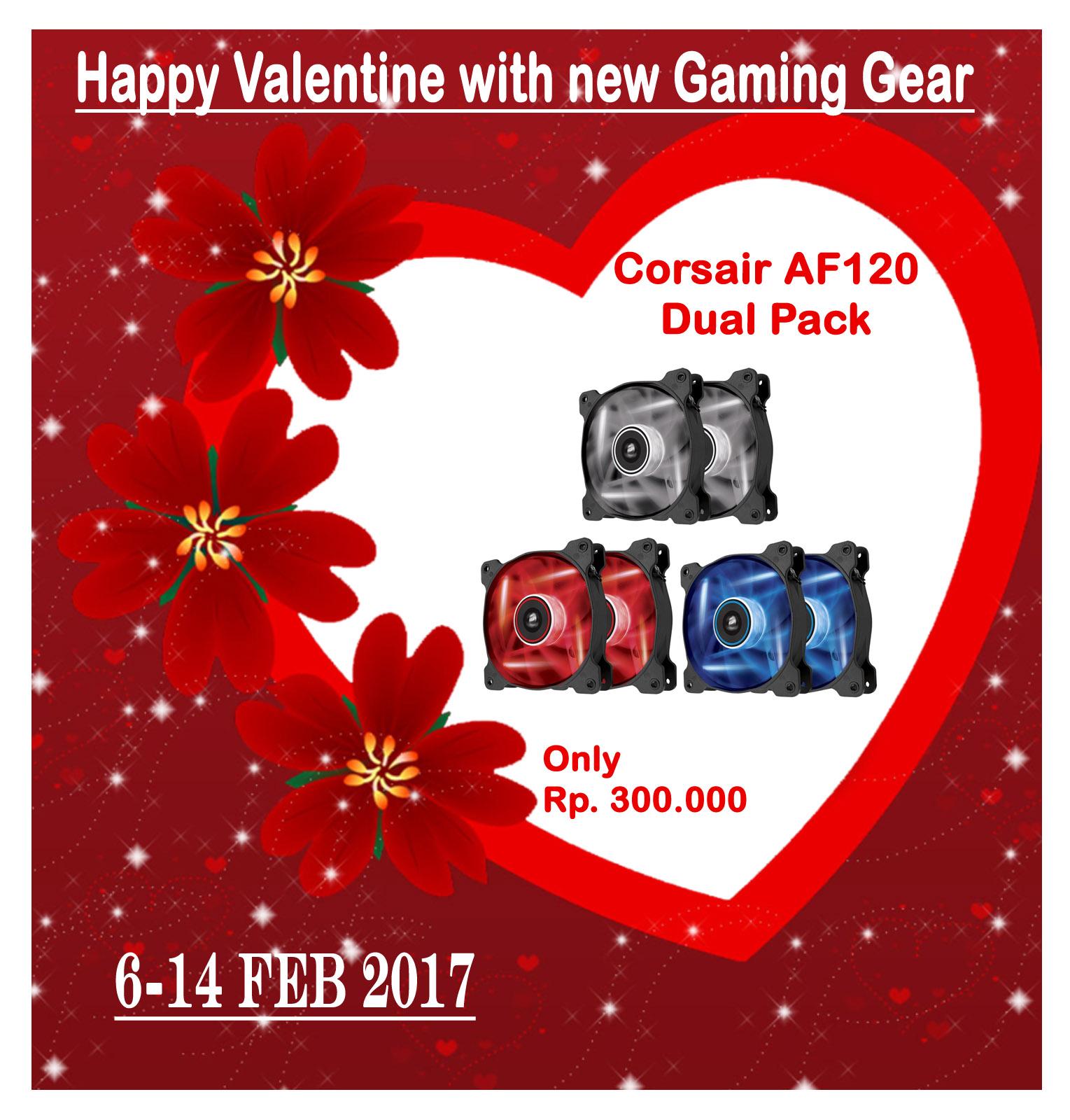Promo Valentine Corsair Af120 Led Dual Pack 12cm Fan Best For Deepcool Xfan Casing Black White Rp300000 Red Blue Rp