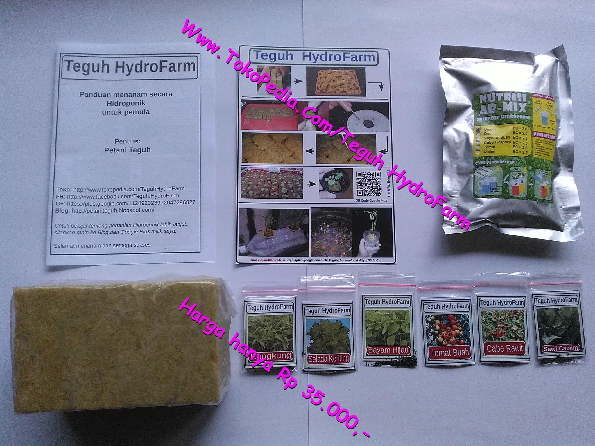 Jual Paket Pemula Hidroponik Nutrisi Ab Mix 100l Rockwoll Bonus Benih Tanaman Buah Teguh Hydrofarm Tokopedia