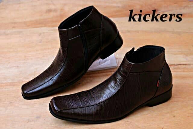 Jual sepatu kickers kulit pria formal terbaru - Cokelat Muda 93ba6d84aa