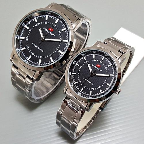 Jual Jam Tangan Couple   Pasangan Murah Swiss Army Couple ... e69b2326b9