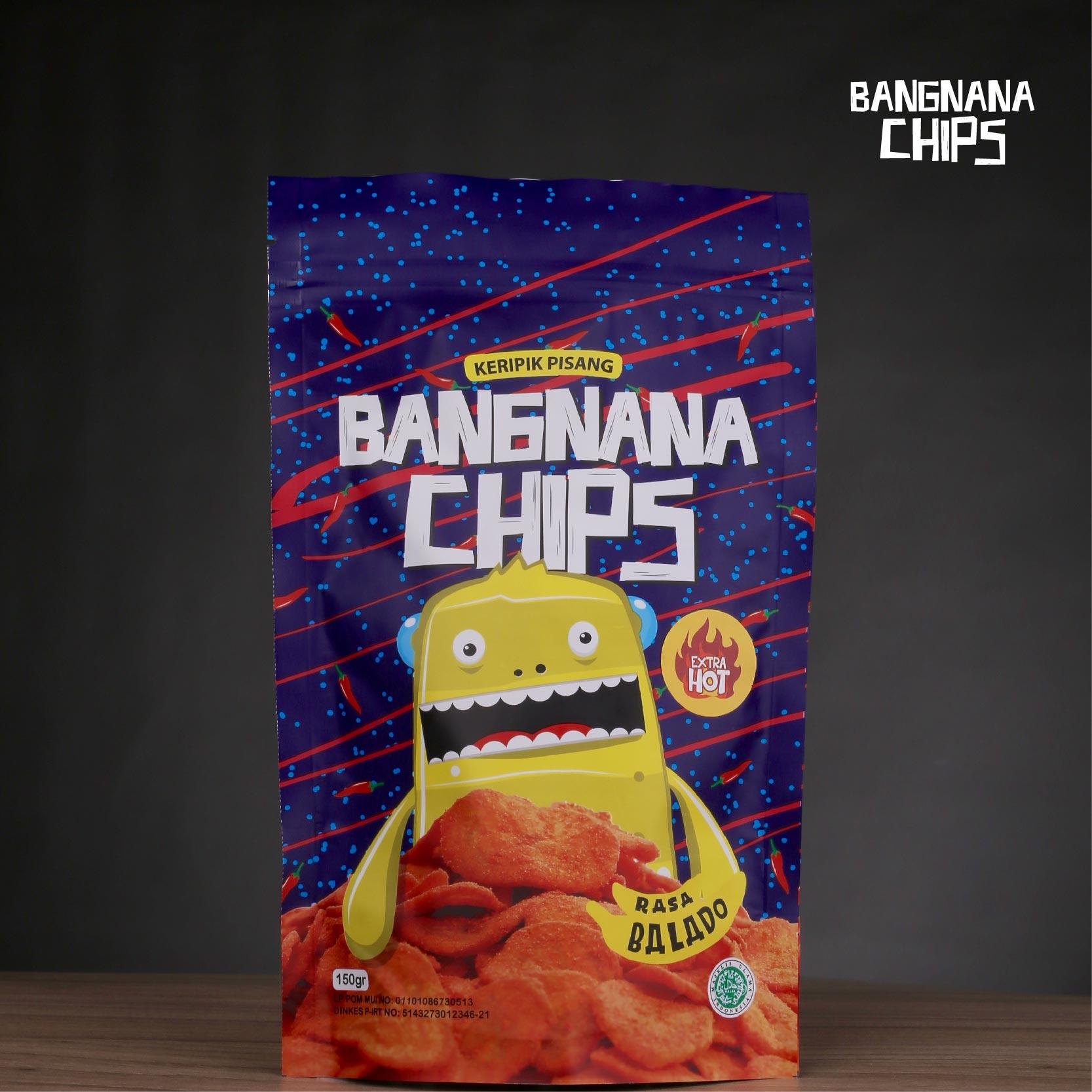 Jual Keripik Pisang Bangnana Chips Rasa Balado Extra Hot Kripik By Mulqi Tokopedia