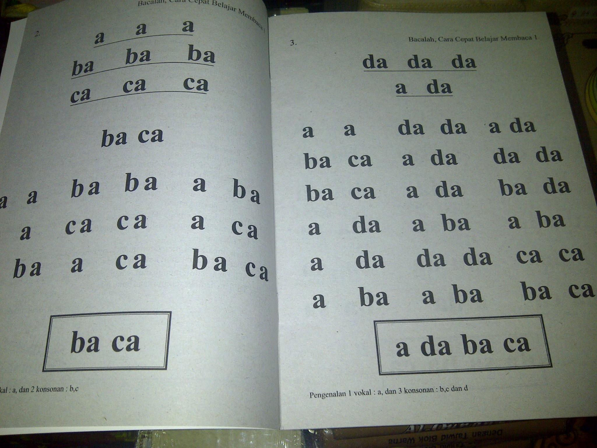 Belajar baca anak tk