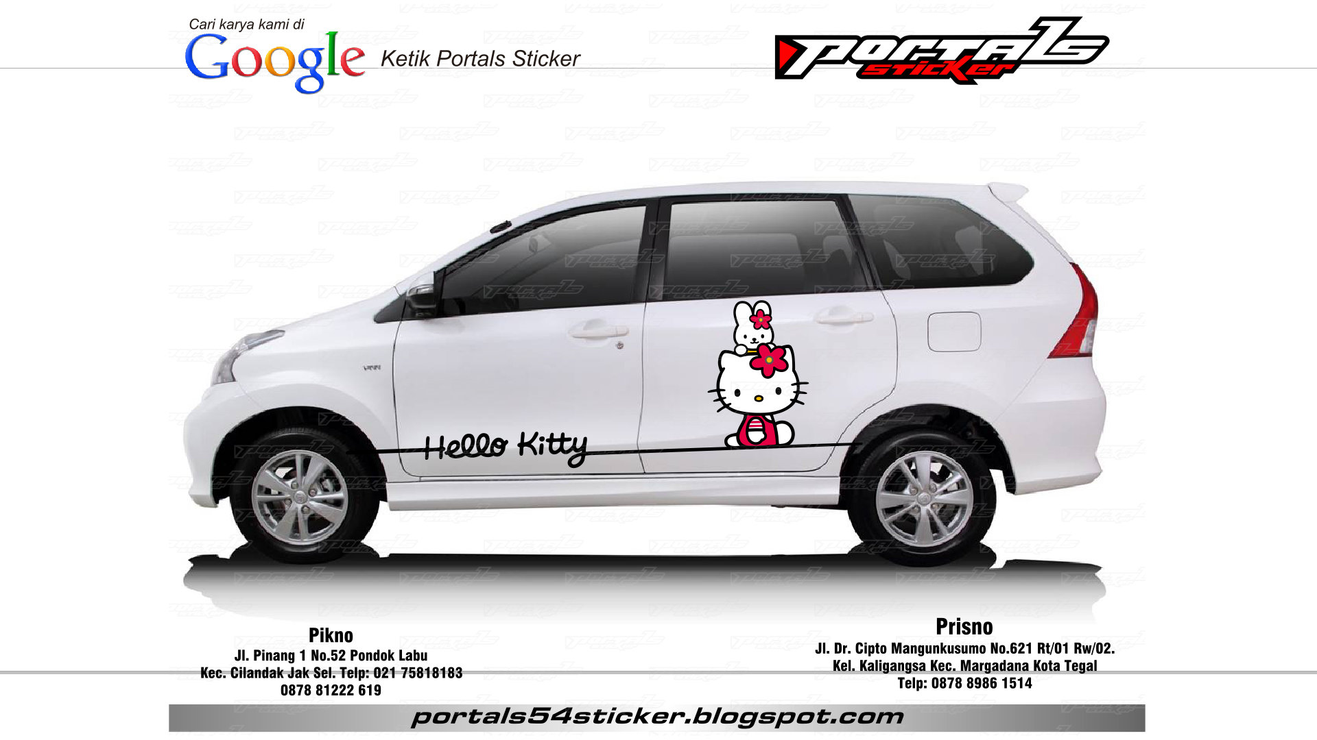 Jual sticker toyota avanza hello kity portals sticker tokopedia