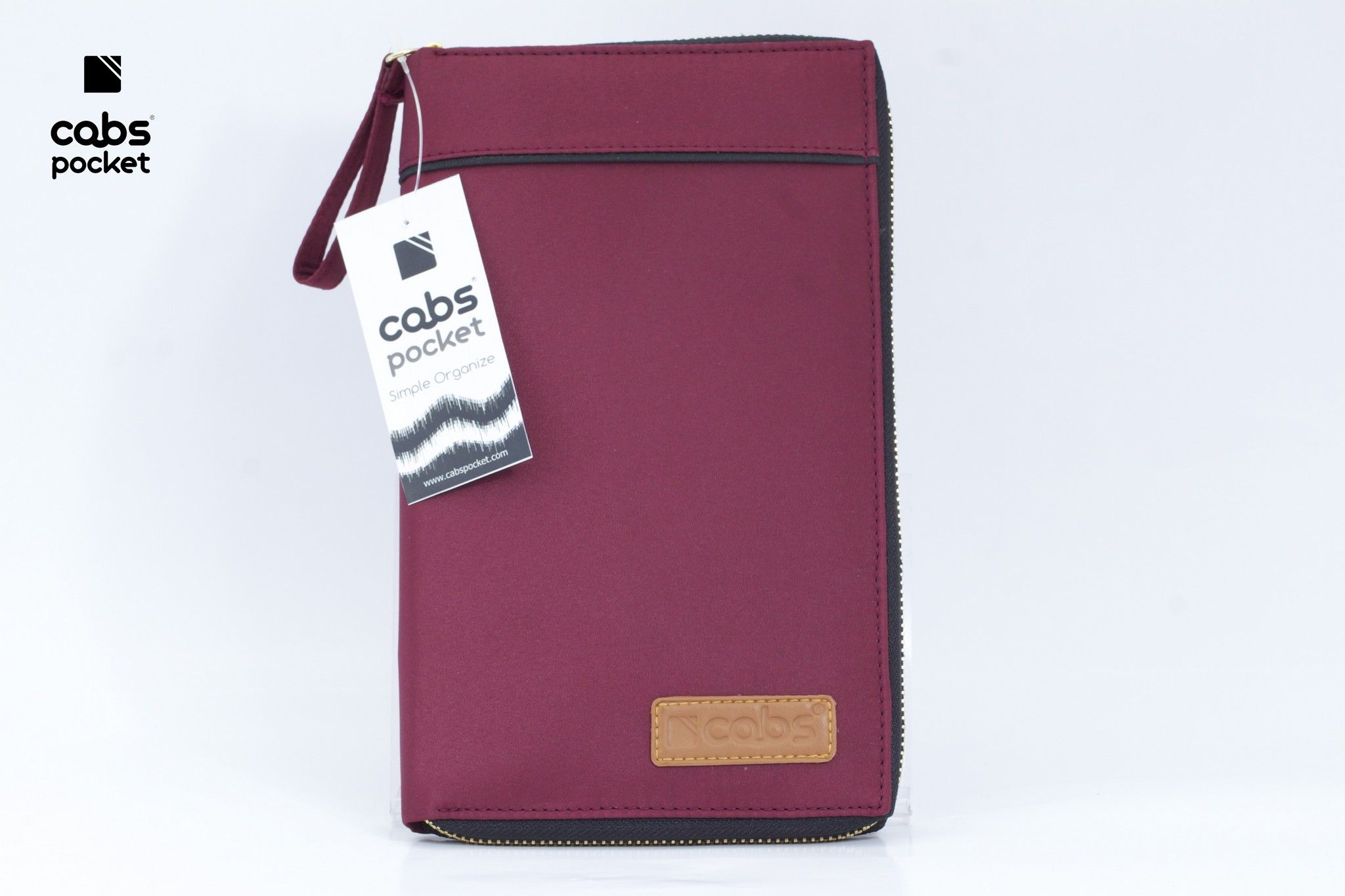 Cabs Pocket Slim (Dompet Serbaguna HPO Organizer untuk Pria & Wanita Dompet Kartu Lokal Wallet Branded) Maroon