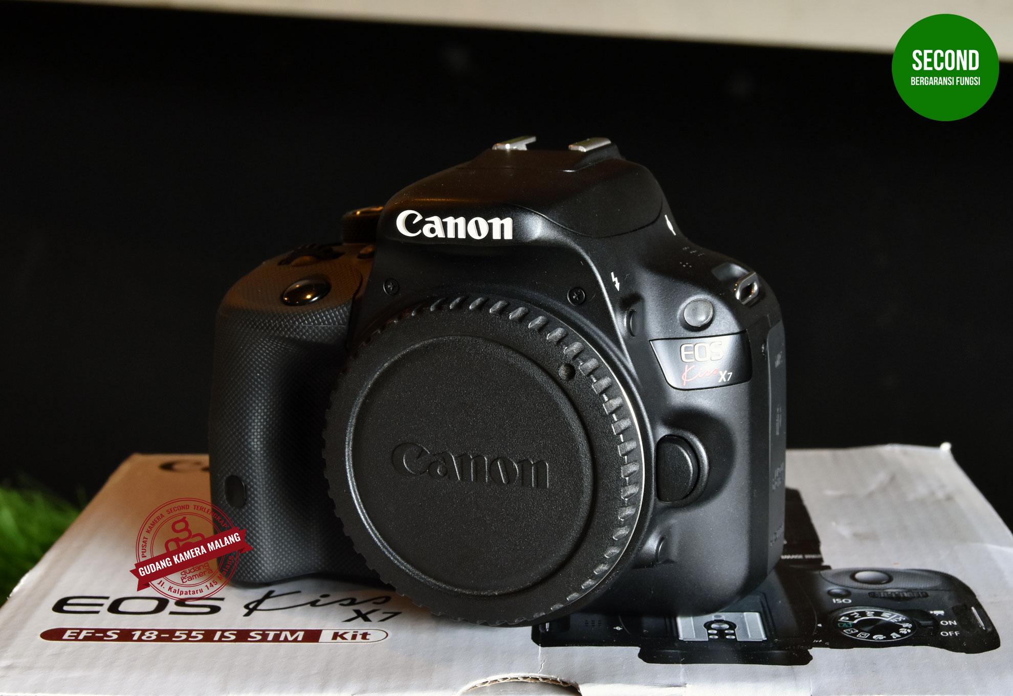 Jual Secondhand Canon Eos Kiss X7 100d Bo Sc6xxx Gudang Camera Lensa 18 55 Is Stm Kit Kamera M Mlg Tokopedia