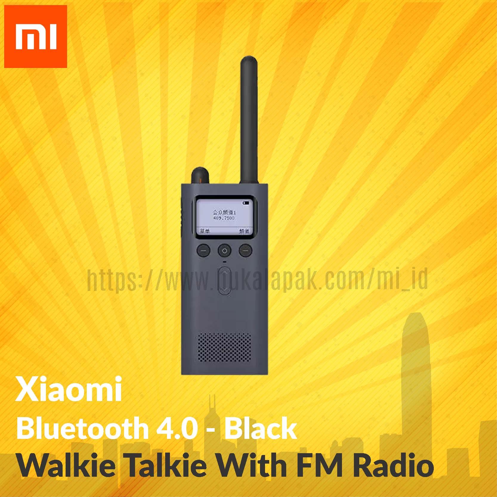 harga Xiaomi Bluetooth 4.0 Walkie Talkie With Fm Radio Blanja.com
