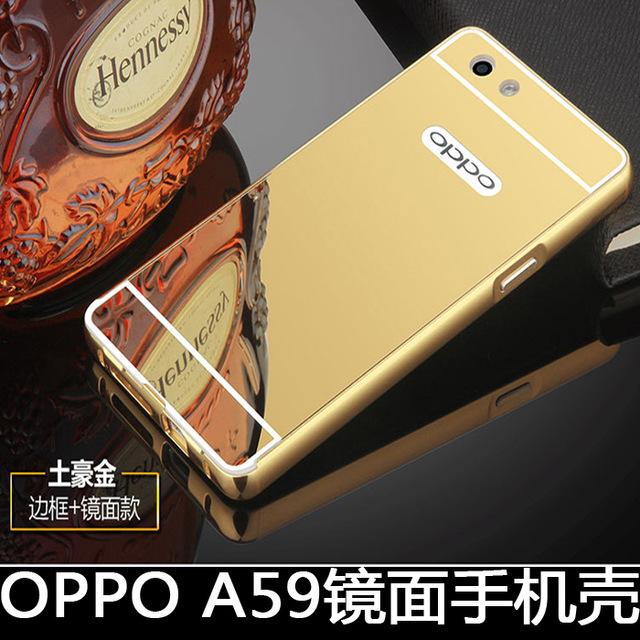 Case Aluminium Bumper Mirror oppo a59 f1s bumper sleding oppo a59 f1s - pink + free. Source · Backdoor Slide - Gold + Free iRing.
