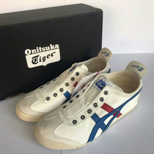 new concept 29263 52634 Jual Onitsuka Mexico 66 Slip On CV #TH1B2N White/Tricolor ...