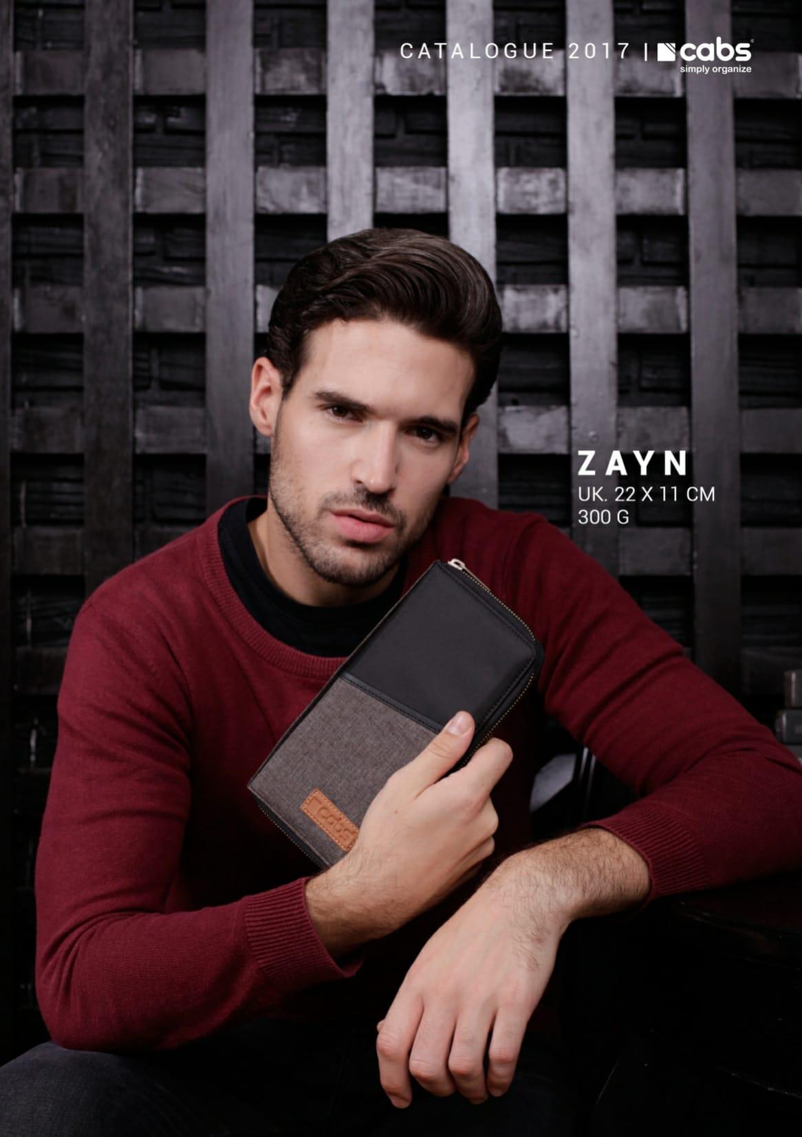 Cabs Pocket Zayn (Dompet Passport Traveler, Dompet Kartu HPO Organizer Untuk Pria & Wanita. Wallet) Grey