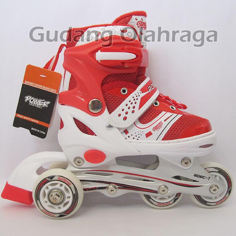 Sepatu Roda Bajaj Power Superb Sol (Jahit) / Inline Skate Anak, Dewasa