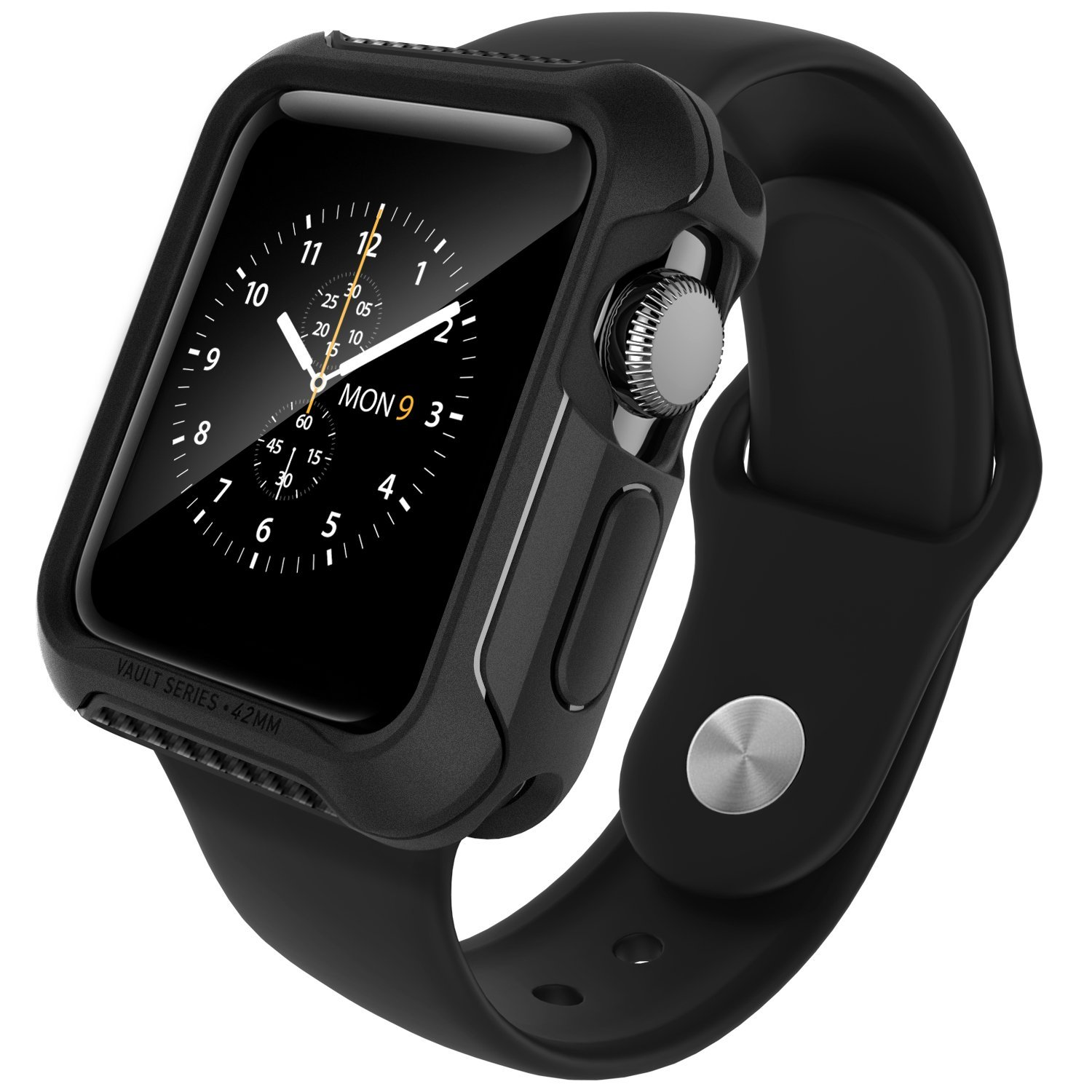 Caseology Apple Watch 42mm Version 2 Case Vault Series - Black ORI