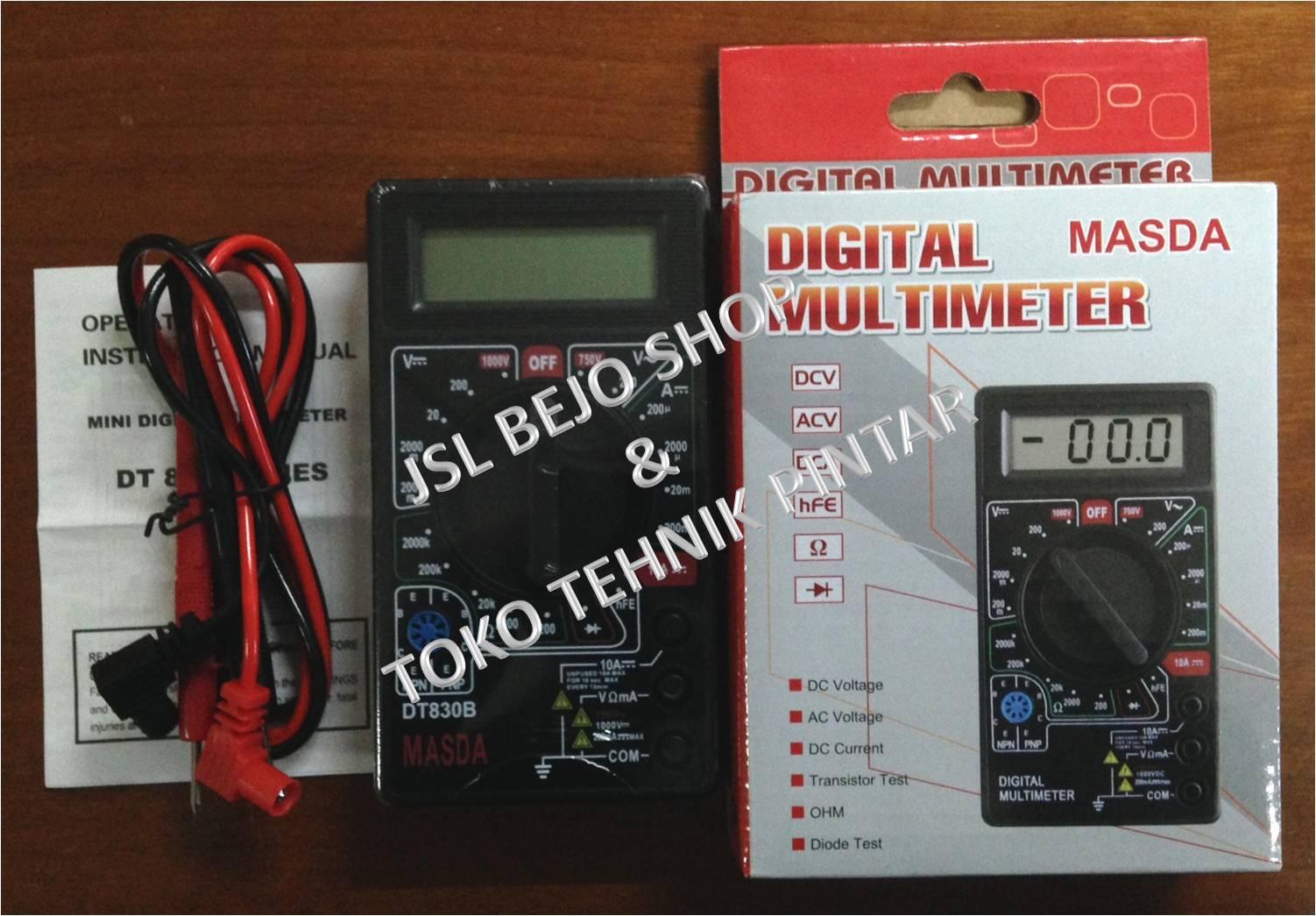 Multimeter Digital Body Lapis Karet Tester Avo Meter Daftar Harga Multitester Avometer Dt 830 B Dt830b Multi Source