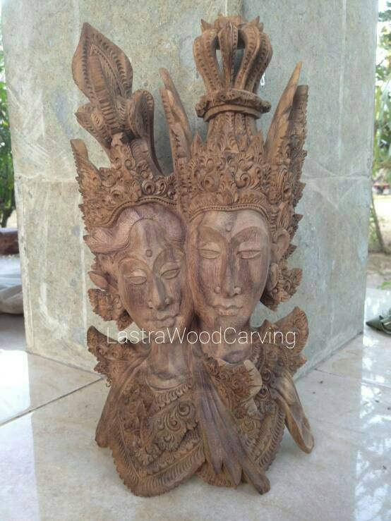 BELI Patung rama shita bali kerajinan kayu kado unik lucu patun kayu murah