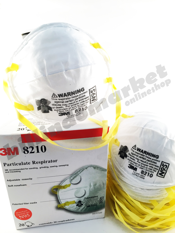 Masker 3m 8210 / Dust Masker 3m 8210 N95 20pcs - Blanja.com