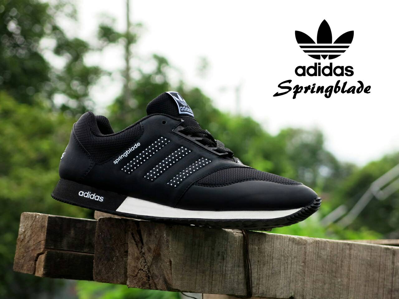... good jual sepatu sport adidas springblade hitam putih casual pria  sneakers murah outlet sepatu distro tokopedia aa03652a9a