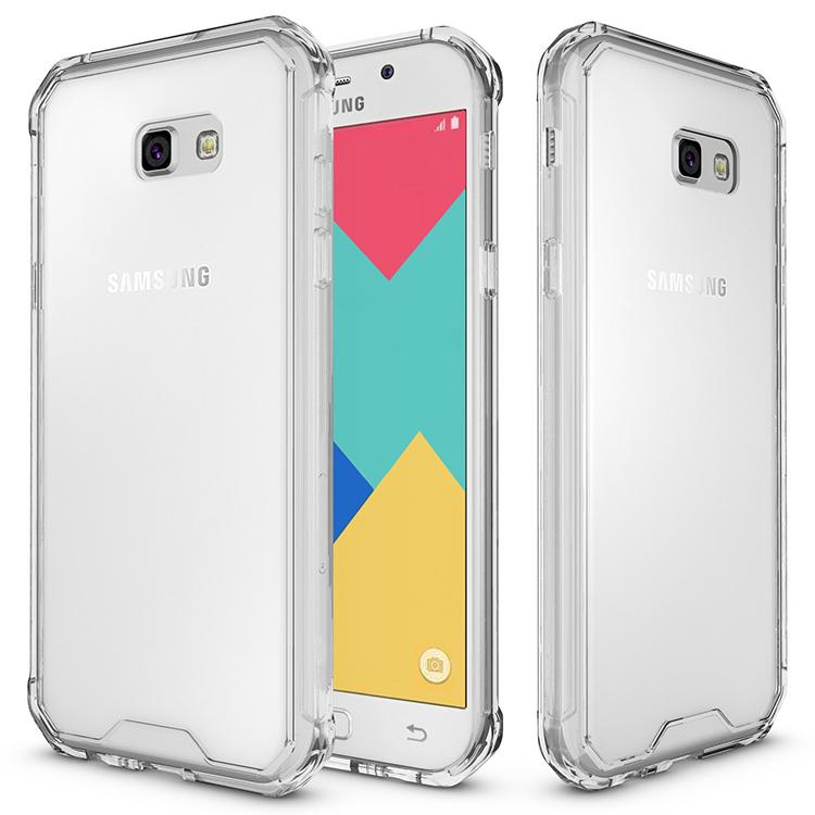 Samsung Galaxy A3 2017 Clear Back  Panel TPU Cushion Hybrid Case