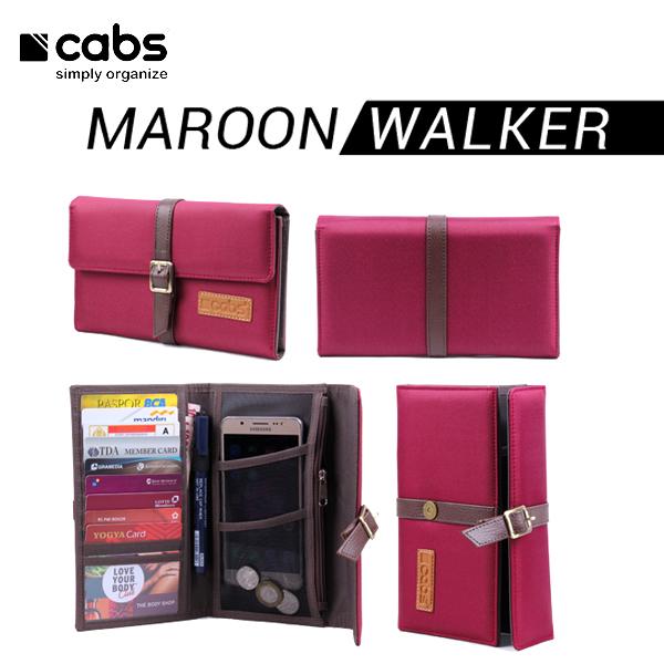 Cabs Pocket Walker Dompet Pria Branded Serbaguna Multifungsi Dompet Cowok HPO Lokal Organiser Wallet - Maroon