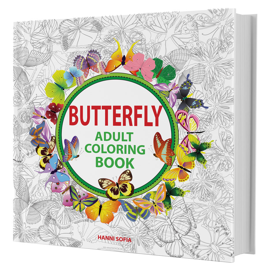 BUTTERFLY ADULT COLORING BOOK