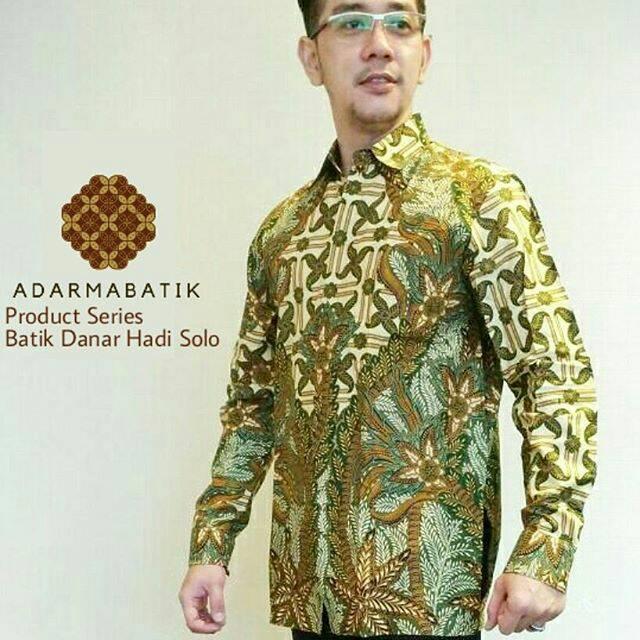 Jual Batik Pria Danar Hadi Solo Lengan Panjang  Berkualitas