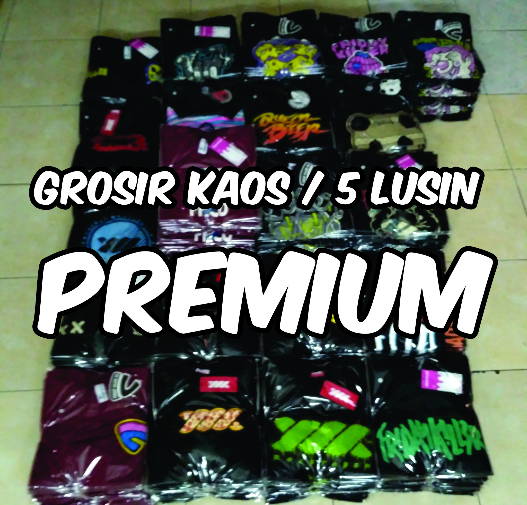Jual Grosir Kaos Distro Premium Original Murah  Min 4 Pcs 5 Lusin Sadamu Tokopedia