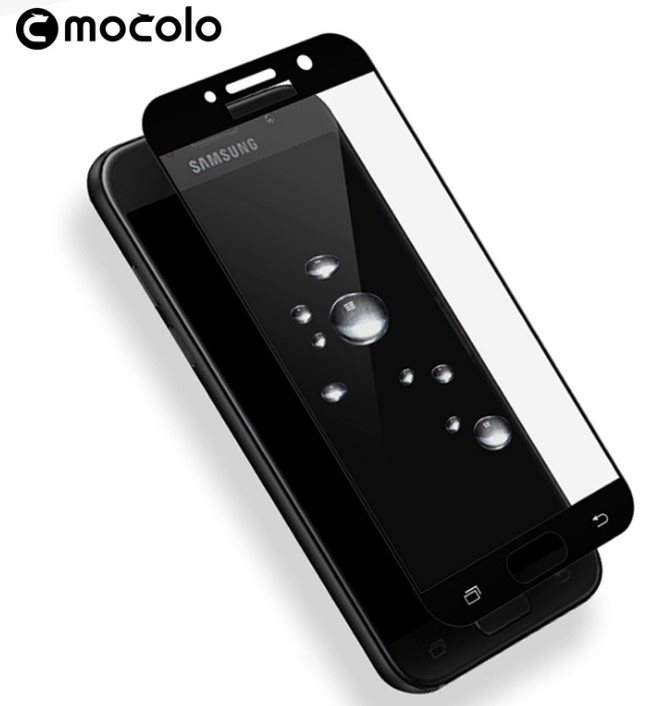 Mocolo Galaxy A7 2017 Edition Tempered Glass Full Screen - Black