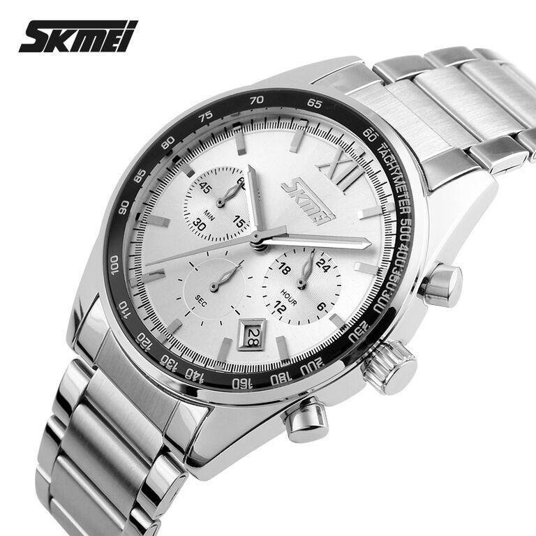 Jam Tangan Pria / Cowok TVG SK990 Original Rantai Silver White. Source · Jual SKMEI Casual Men Stainless Strap Watch Water Resistant 30m 909 Mura - Asair ...