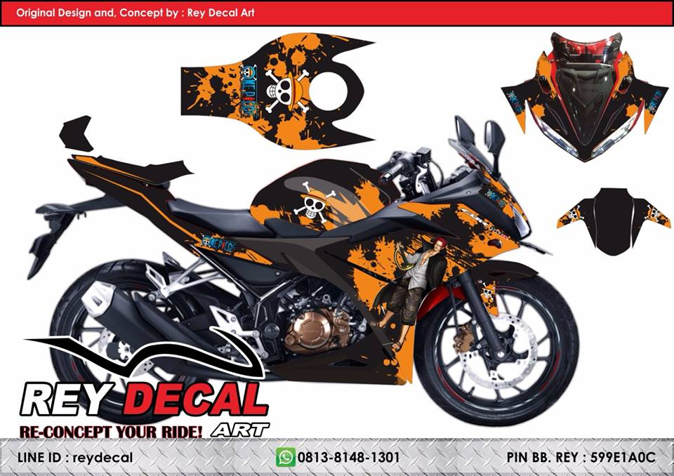 Jual decal cbr 150 facelift one piece fullbody sudah pola cutting body rey decal sticker tokopedia