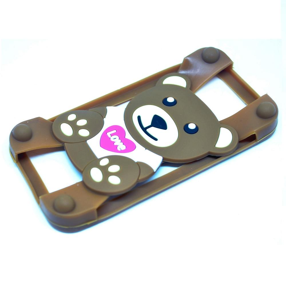 harga Teddy Bear Bumper Ring Silicone Case For Smartphone 4 - 5.5 Inch Blanja.com