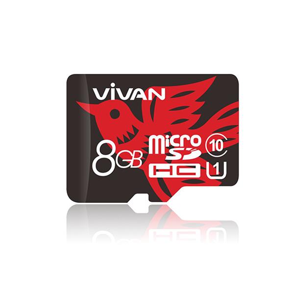 harga Vivan V8u10 8g Class 10 Festival Edition Micro Sd Tf Card Black + Red Blanja.com