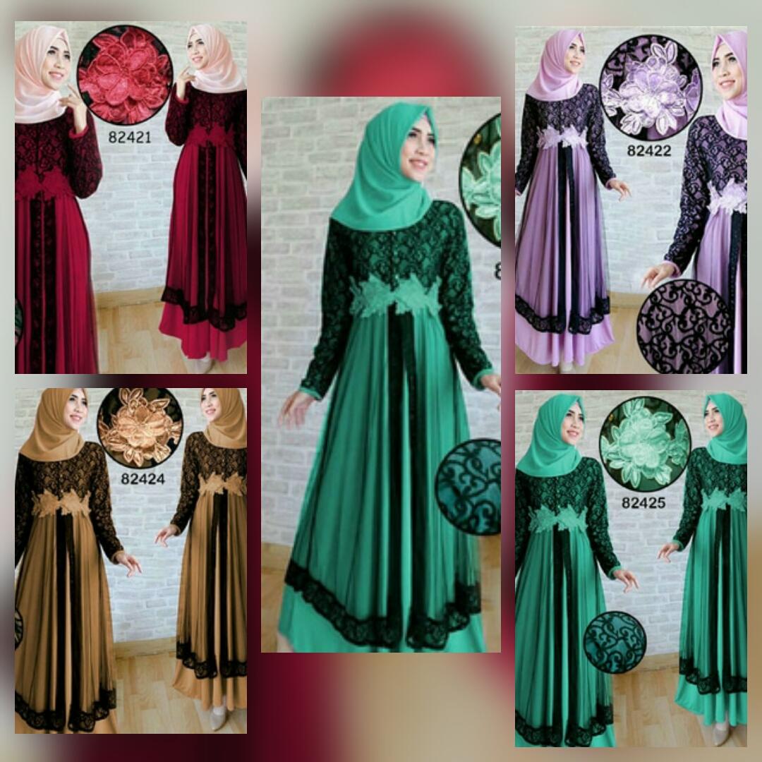 Jual Gamis Lebaran 2017 Baju Gamis Pesta Muslimah