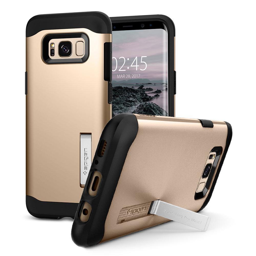 Spigen Samsung Galaxy S8 Case Slim Armor Casing - Gold Maple
