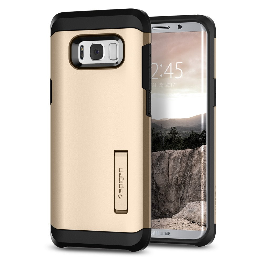 Aksesoris Samsung Jual Gadget Android Hp Lenovo Livo S90 Spigen Galaxy S8 Plus Case Tough Armor Casing Gold Maple
