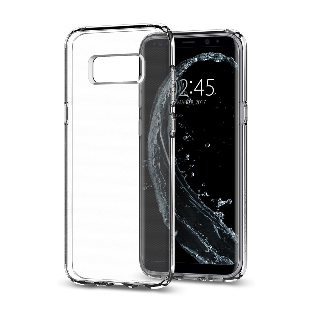 Spigen Samsung Galaxy S8 Case Liquid Crystal Casing - Clear Transparan