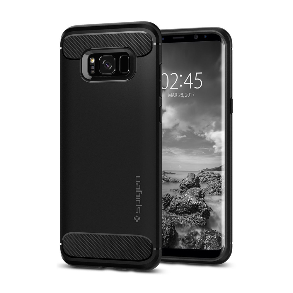 Spigen Samsung Galaxy S8 Case Rugged Armor Casing - Black