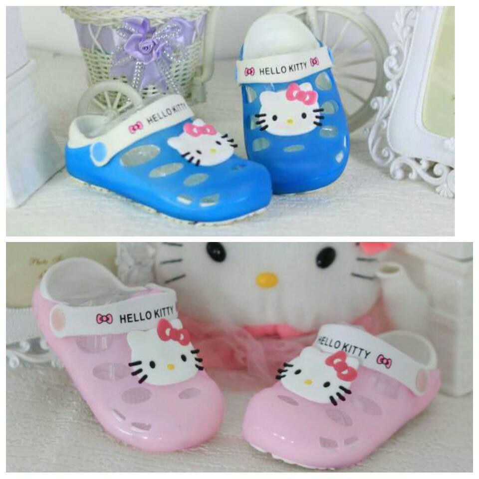 Jual Sepatu sandal anak perempuan Import Model Crocs Hello ...