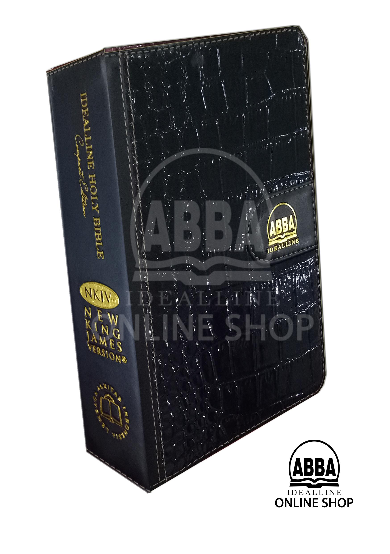 Jual Alkitab Dwibahasa Idealline Holy Bible NKJV Black ABBA dLight