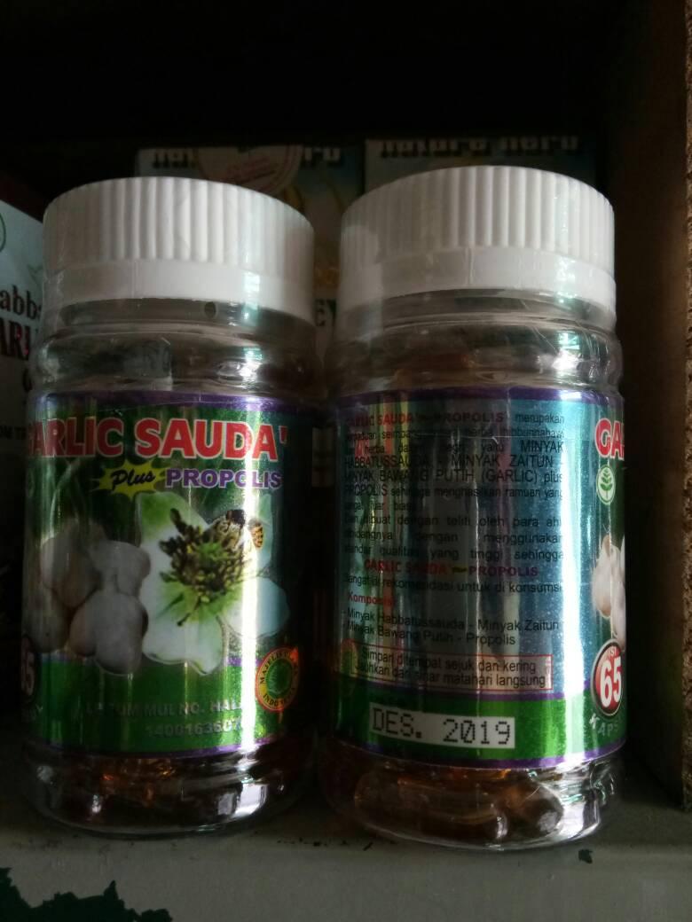 Jual Garlic Sauda Plus Propolis 65 Kapsul Pondok Herbal Bekasi Darah Tinggi Septa Tokopedia