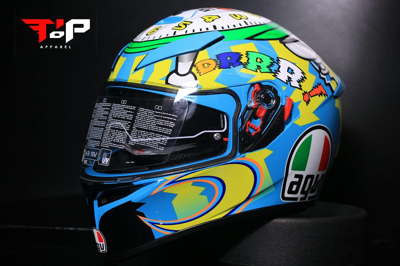 Jual Helm Agv K3 Sv Wake Up Asian Fit K3sv Double Visor Original Lucky Star Helmet Tokopedia
