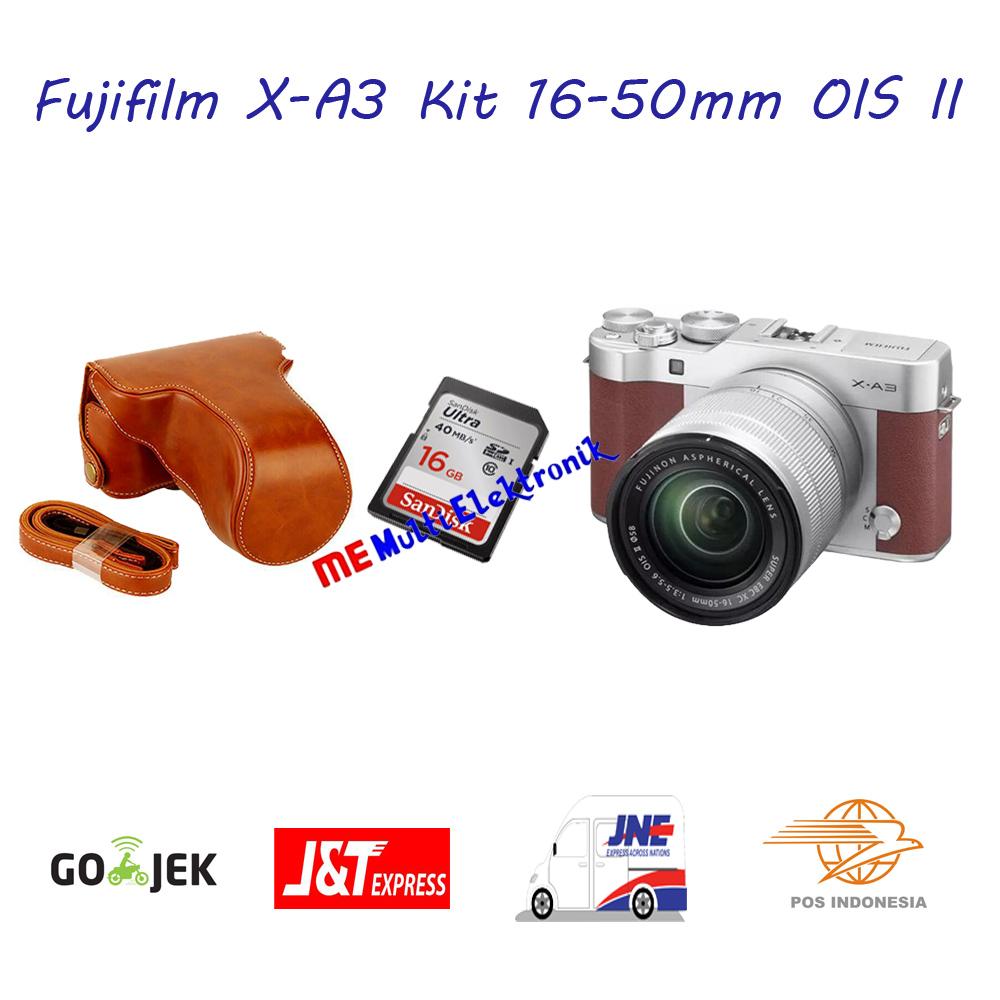 Jual Kamera Fujifilm X A3 Xa3 Kit 16 50mm Free Tas Dan Memory Gb Silver Multi Electronic Tokopedia