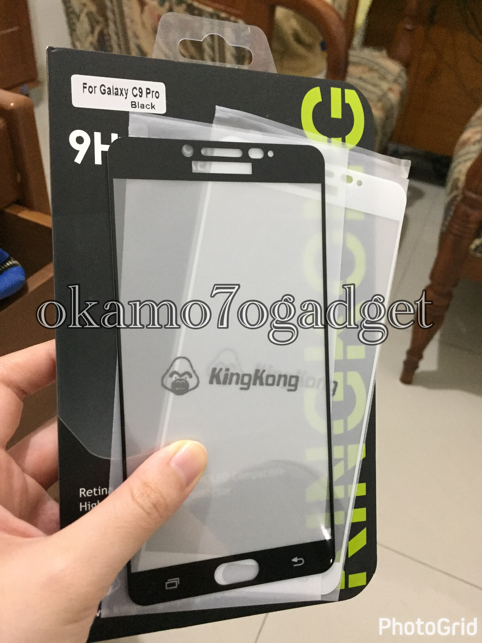 Galaxy C9 PRO FULL COVER Anti Gores Kingkong Tempered Glass C9 PRO